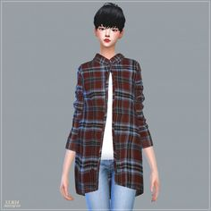 SIMS4 Marigold: Long Shirts With Tee • Sims 4 Downloads