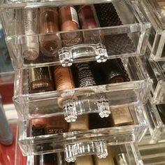 Acrylic organizer silver glitter by ArmelleOrganizers on Etsy