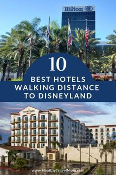 One of the best things about a Disneyland vacation in Anaheim, California is that there are so many family-friendly hotels walking distance to Disneyland. Here's a guide to the ten best hotels walking distan Disney Hotels, Best Hotels Near Disneyland, Familienfreundliche Hotels, Disneyland Resort, Disney Vacations, Cheap Hotels, Marriott Hotels, Disney Travel, Top Hotels