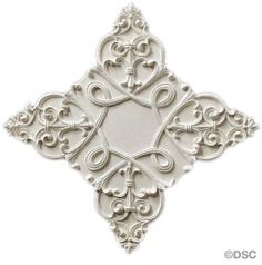 "Plaster Medallion # 1092 --Elizabethan--24 1/2"" X 24 1/2""--1/2"" Relief. By Decorators Supply, Chicago"