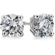 Blue Nile Diamond Stud Earrings in 18k White Gold (1 ct. tw.) 98f2e5b29