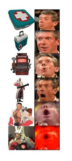 Video Games Funny, Funny Games, Tf2 Funny, Team Fortress 2 Medic, Valve Games, Tf2 Memes, Team Fortess 2, Gaming Memes, Humor