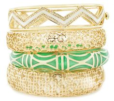 Andrew hamilton crawford filigree collection stacking bracelets