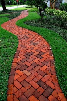 The path of brick - it is beautiful, but short-lived