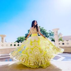 Be Inspired: Yellow, beautiful dress, indian, wedding dress Big Indian Wedding, Indian Bridal, Bride Indian, Indian Weddings, Indian Look, Indian Ethnic Wear, Pakistani Outfits, Indian Outfits, Korean Look