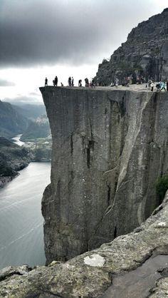 Pulpit rock, Preikestolen.  Norway Norway, Rock, Outdoor, Outdoors, Skirt, Locks, The Rock, Rock Music, Outdoor Games