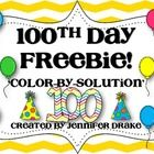 Are you gearing up to celebrate the 100th Day of School?Looking for a quick activity to help reinforce addition