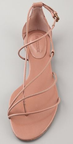 Jil Sander powder leather flats