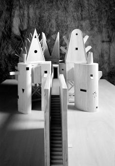 John Hejduk. Buildings with faces. Architecture. Model. Model Making.