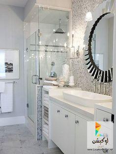 أفضل 10 تصاميم ديكورات حمامات باللون الأبيض - لوكشين ديزين . نت