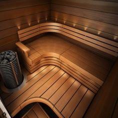 "Tvar ""L"" Sauna Design, Basement Bathroom, Saunas, Pool Designs, Jacuzzi, Logs, New Homes, Relax, Stairs"