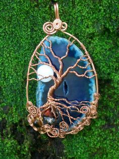 Druzy Agate Tree of Life...One of a Kind