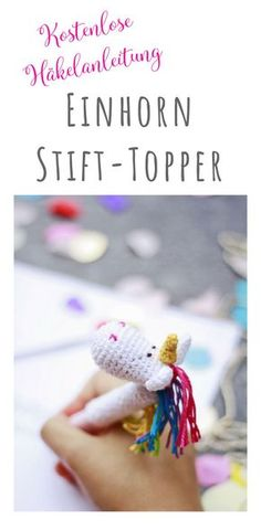 Baby Knitting Patterns Toys Display: Free tutorial for a pin topper as unicorn for crocheting – … Baby Knitting Patterns, Crochet Patterns, Crochet Simple, Cute Crochet, Crochet Yarn, Pen Toppers, Crochet Leaves, Knitting Magazine, How To Start Knitting