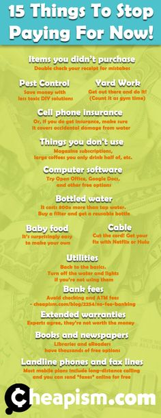 15 Things To Stop Paying For Now