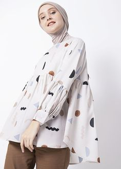 Modest Outfits, Cute Outfits, Moslem Fashion, Casual Hijab Outfit, Hijab Fashion Inspiration, Daily Dress, Islamic Clothing, Cute Blouses, Mode Hijab