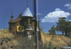 A home made entirely from scrapped, reclaimed and recycled material in Whitman County, Washington.