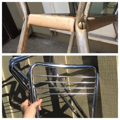 Remove rust from vintage furniture pieces with Bar Keepers Friend.