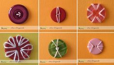 Innovative ways of sewing buttons. Gloucestershire Resource Centre http://www.grcltd.org/scrapstore/