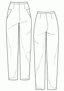 Sewing pattern - High waisted pipe trouser - Ralphpink-patterns.com
