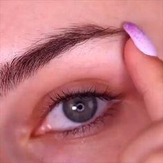 Eyebrow Makeup Tips, Makeup Tutorial Eyeliner, Makeup Eye Looks, Beauty Makeup Tips, Smokey Eye Makeup, Skin Makeup, Makeup Art, Makeup Tricks, Makeup Eyebrows