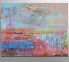 Pintura original óleo sobre lienzo pintura abstracta por Topfineart
