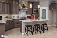 Basically what my kitchen better look like! Wall color, cabinets, back splash and counter tops, i love it all! - amanda @mrscruzata
