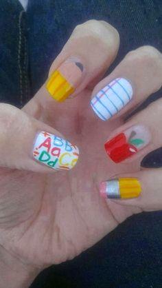 Teacher Nails! My inspiration for custom nail wraps... www.JamberryNailArt.com