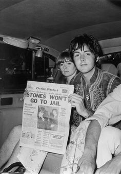 I read the news today oh boy- Paul reads about the Stones