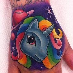 A collection of My Little Pony tattoo designs and unicorn tattoos.  #tattoos #cartoontattoos #mylittlepony