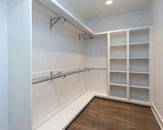 53 ideas for small master closet designs Walk In Closet Small, Walk In Closet Design, Bedroom Closet Design, Master Bedroom Closet, Closet Designs, Bathroom Closet, Diy Bedroom, Trendy Bedroom, Master Bedrooms