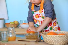 The most amazing pictures of Montessori child food prep.
