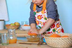 The most amazing pictures of Montessori child food prep.