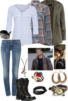 """""""Supernatural - Hunting Gear"""" by theranna ❤ liked on Polyvore"""