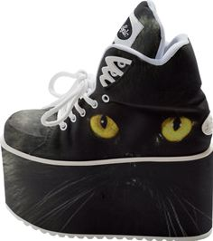 Black Cat Buffalo Platform Shoes designed by Erika Kaisersot | Print All Over Me