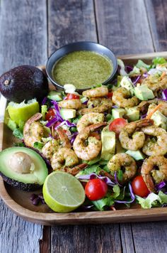 Shrimp and Avocado Salad with Cilantro Dressing — coffee & crayons