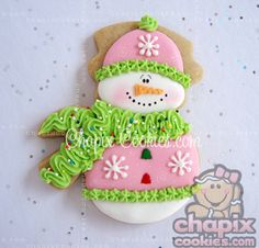 Myri's Frosty  Cookie! So cute! by Chapix Cookies - love this!
