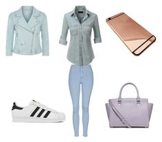 """""""pour l ecole"""" by chanelikoli on Polyvore featuring Topshop, LE3NO, Rebecca Minkoff, adidas and MICHAEL Michael Kors"""