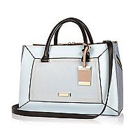 Blue structured hinged handbag - shopper / tote bags - bags / purses - women
