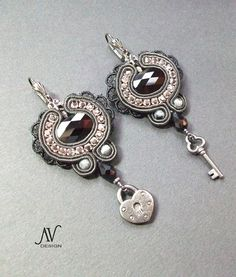 Soutache earrings Old Castle by AnnetaValious on Etsy, $110.00