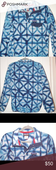 Women's Medium Patagonia Pullover Blue and white fleece pullover Patagonia Jackets & Coats