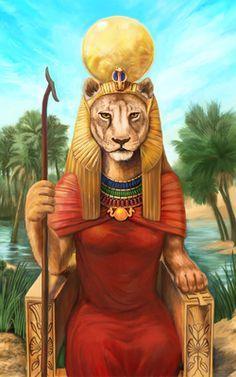 Sekhmet, Egyptian Goddess of the sun, war, plagues and surgeons.