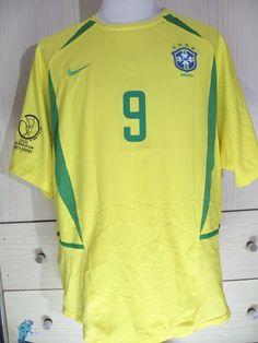 6c7eae75a2 RONALDO BRAZIL WORLD CUP 2002 HOME VINTAGE NIKE FOOTBALL SHIRT SOCCER  JERSEY L