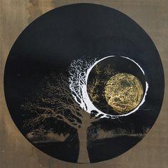 Bright Black Night Before I | Photographic screenprint | Flickr Stencil Art, Silk Screen Printing, Gravure, Graphic Design Inspiration, Oeuvre D'art, Mixed Media Art, Painting Inspiration, Textile Art, New Art