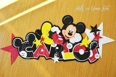Mickey Banners, Diy And Crafts, Disney, Kid Art, Banner, Posters, Disney Art, Bunting