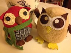 Meet Owly's new dapper friend. What should we call him? Day 300 of #yearofowly #lifeofowly