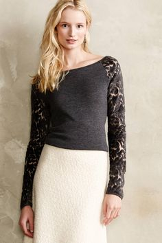 Lace Silhouette Pullover - anthropologie.com