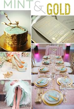 gold wedding shoes Mint and Gold Wedding Inspiration - colors Mint Gold Weddings, Gold Wedding Shoes, Wedding Mint Green, Pink And Gold Wedding, Orange Weddings, Beach Weddings, Wedding Themes, Wedding Vendors, Wedding Colors
