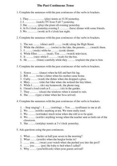 36 Awesome past continuous worksheet images