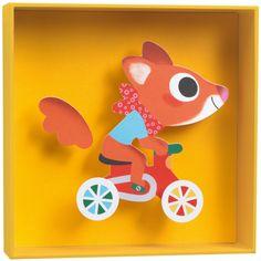 Le Tableau relief Scouic de la marque Little big room apportera une touche colorée et décorera joliement la chambre de votre enfant.