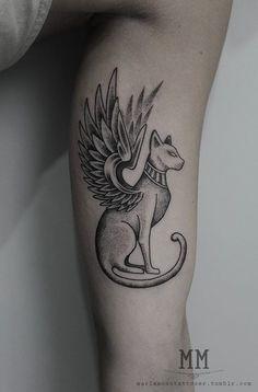 Sphinx egipcia tattoo. #MarlaMoon